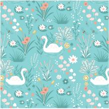 2303-01 By the pond swan mint
